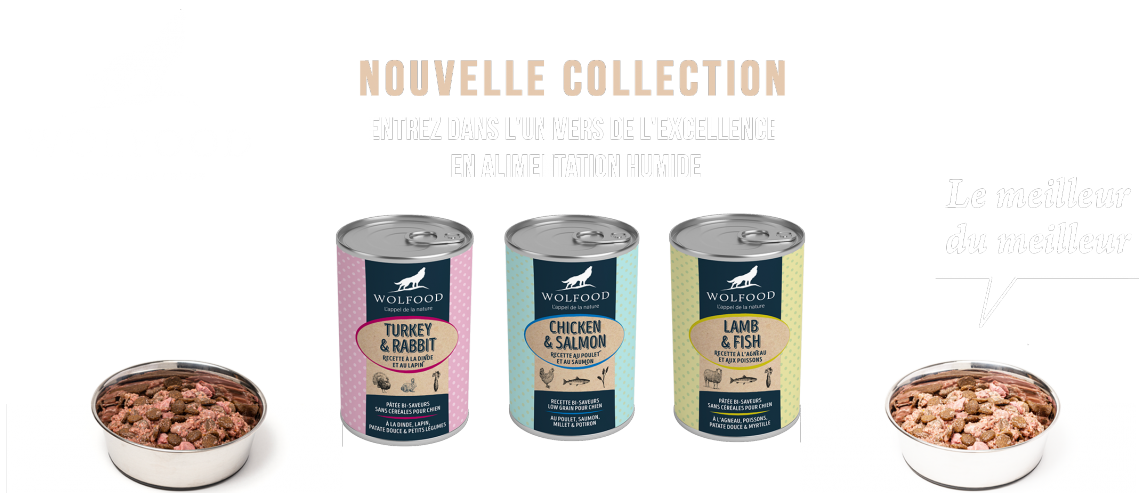 Boites humide WOLFOOD