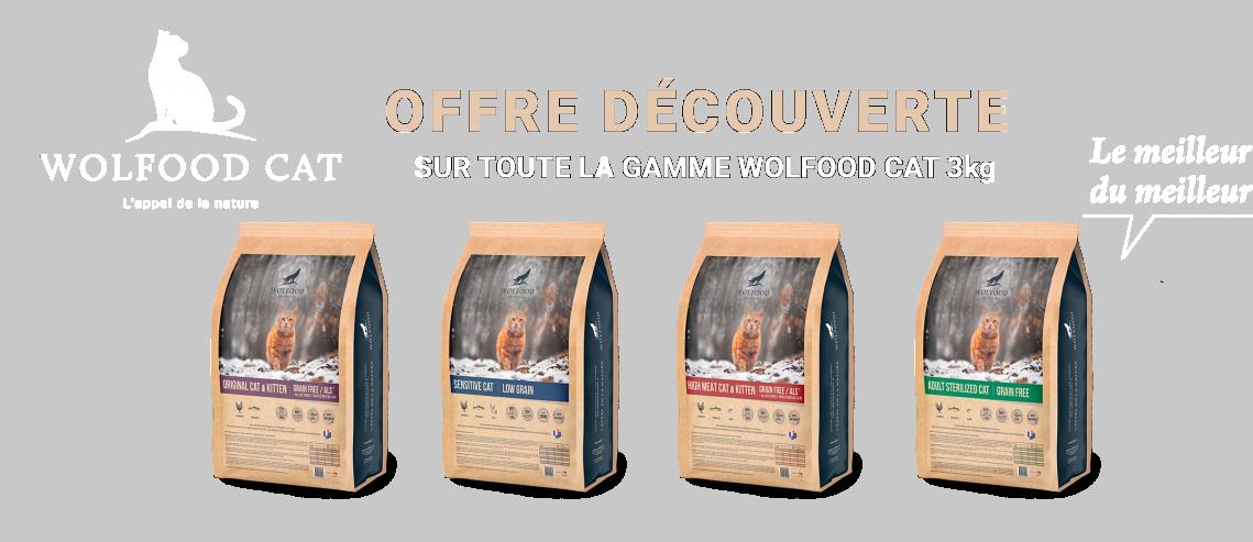 Chat 3kg WOLFOOD offre découverte