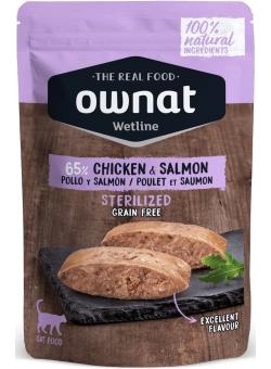 Sterilized Chicken & Salmon sachet fraicheur