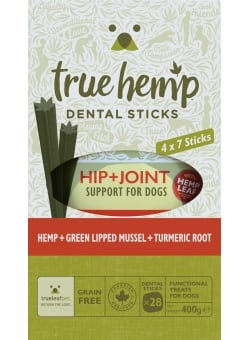 BÂTONNETS DENTAIRES MULTIBOX TRUE HEMP™ • HIP & JOINT / CHIEN